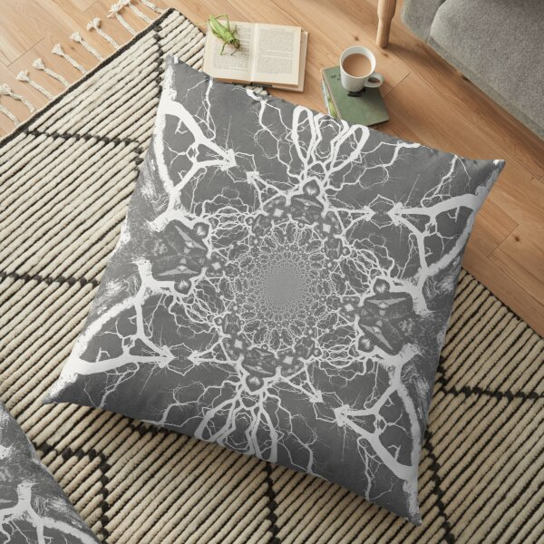 Abstract Branches Floor Pillow
