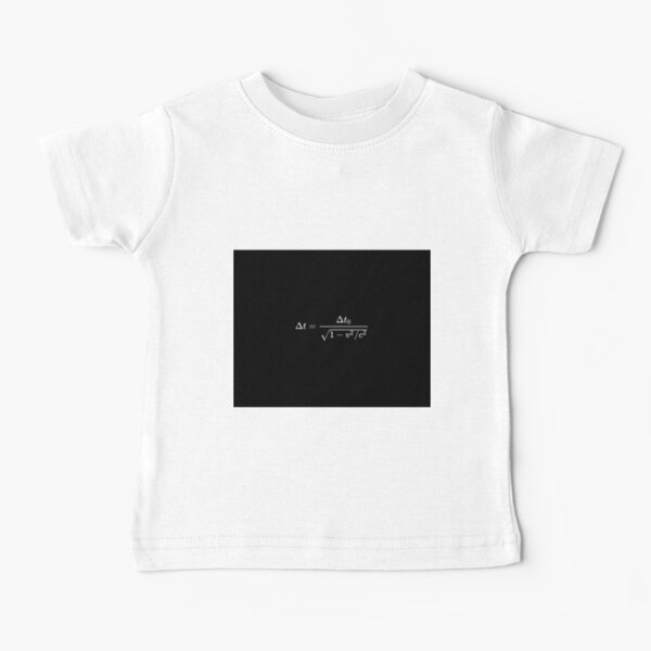 Time dilation is a difference in the elapsed time measured by two clocks Baby T-Shirt