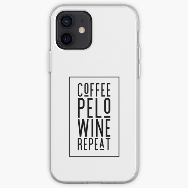 Coffee, Pelo, Wine, Repeat ~ Peloton gifts ~ Peloton Fans iPhone Soft Case