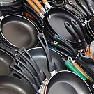 Lots of pans - Village Market, Bolzano, Italy by David Galson