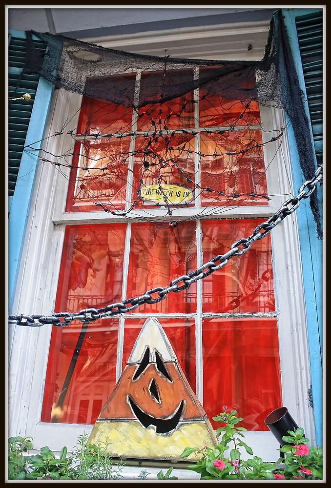 Hallowe'en Window in NOLA 1 by Mikell Herrick