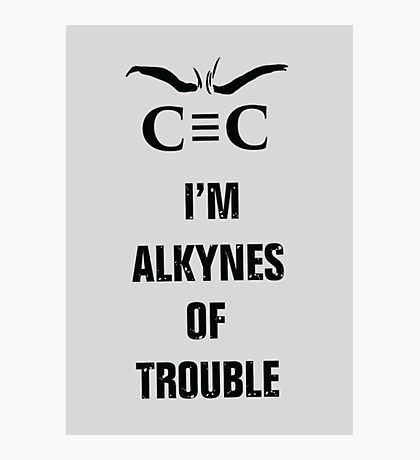 Alkynes of Trouble Photographic Print