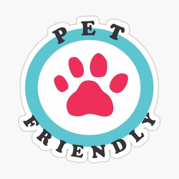 Pet Friendly Paw Pegatina