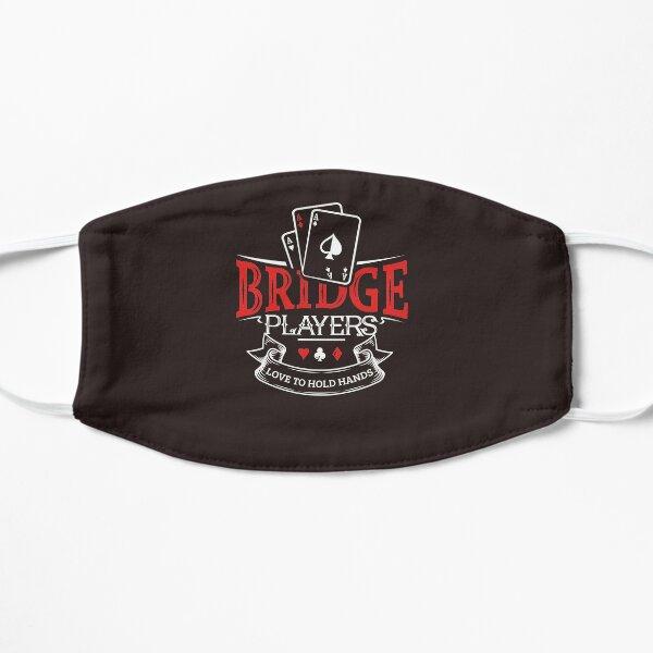 Bridge Players Playing Card Bridge Gift Design Flat Mask