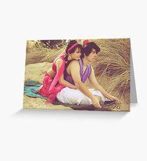 Aladdin & Jasmine Greeting Card