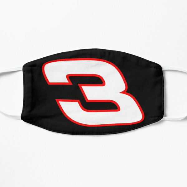 Number 3 NASCAR sticker Flat Mask