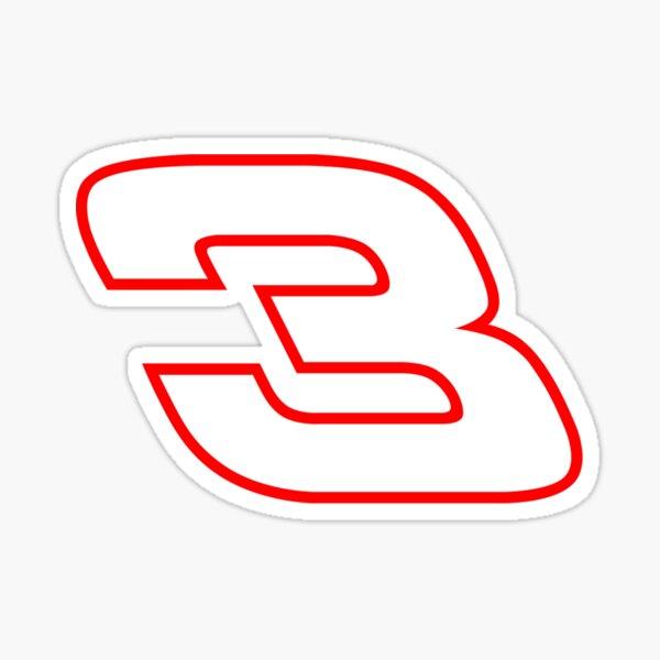 NASCAR-Aufkleber Nummer 3 Sticker