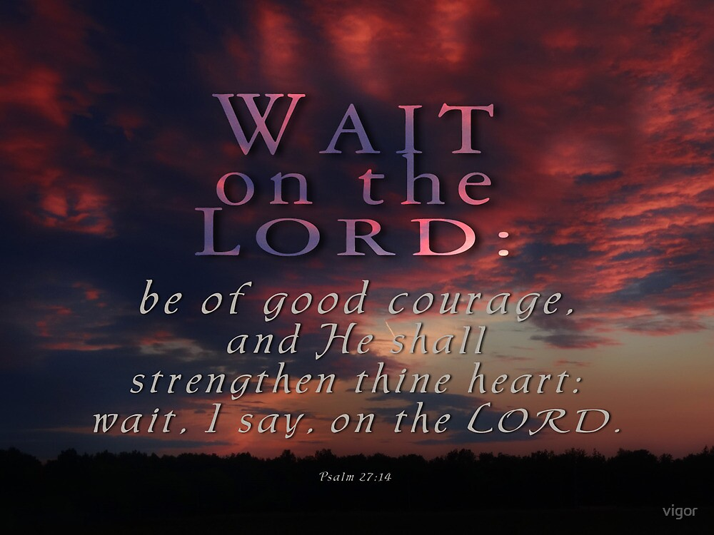 Wait on the Lord -Ps.27:14 by vigor