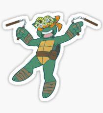 Flower Power Michelangelo Sticker