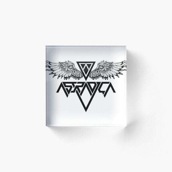Astradica bandlogo with wings Acrylic Block