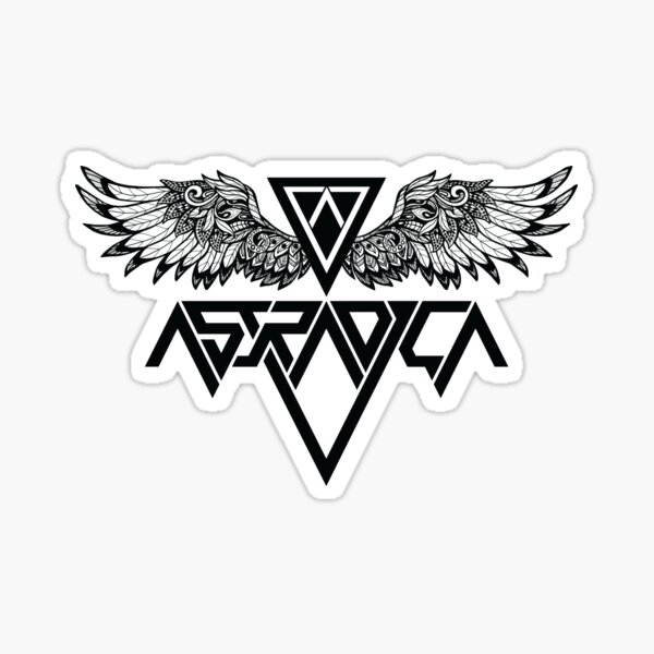 Astradica bandlogo with wings Sticker
