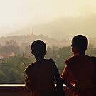 A misty morning at Luang Prabang by Brian Bo Mei