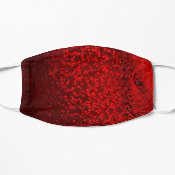 Lentejuelas rojas Mascarilla plana