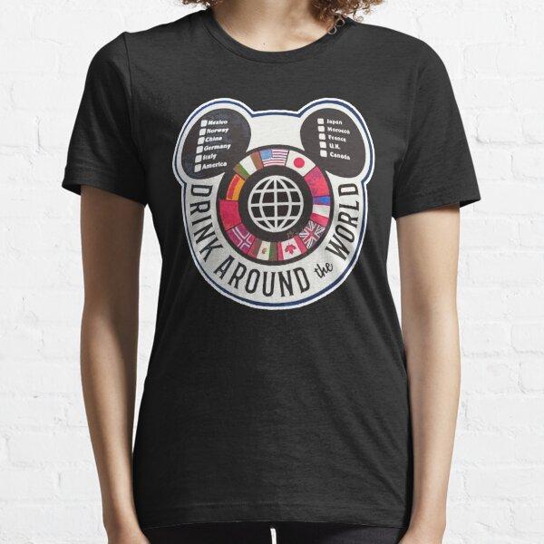 DRINK AROUND THE WORLD VINTAGE SHIRT  Essential T-Shirt
