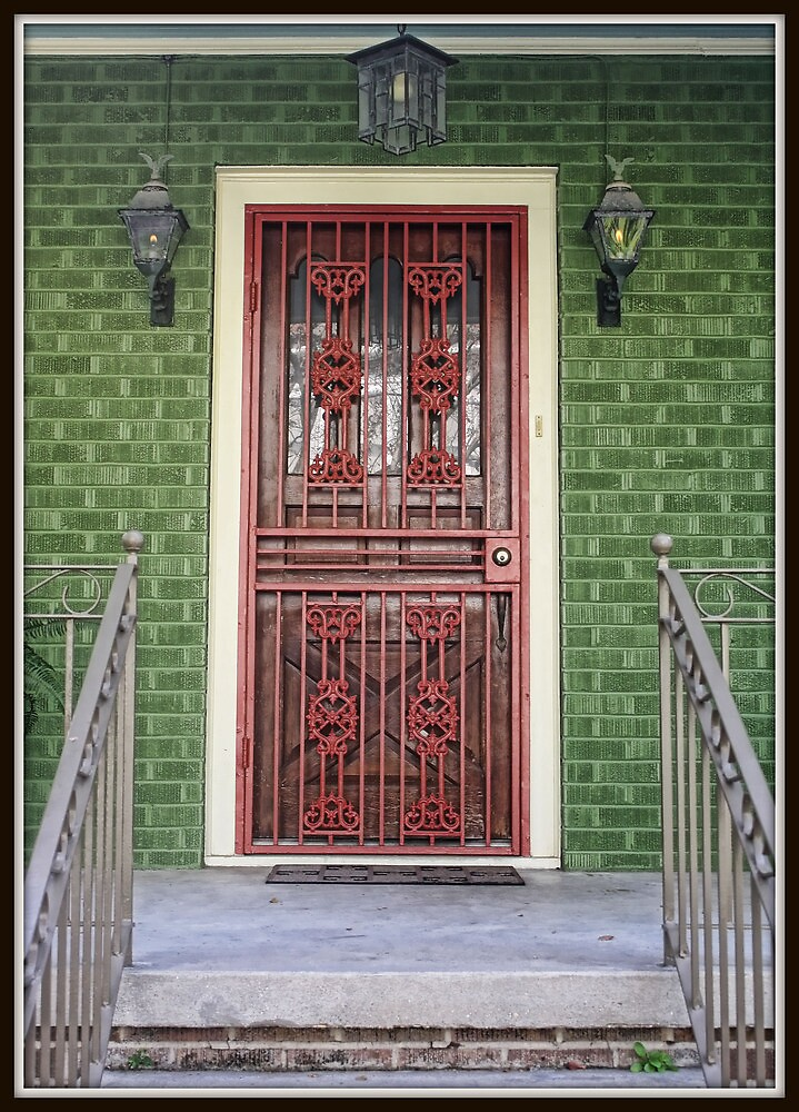 Red Iron Door by Mikell Herrick