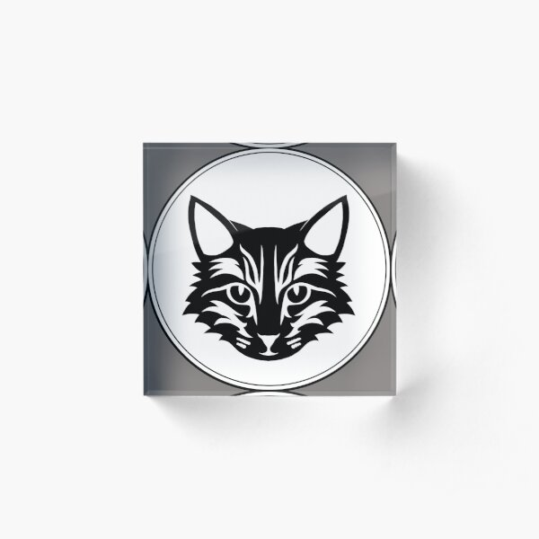 Kopie von Katzen Logo mit Style Acrylblock