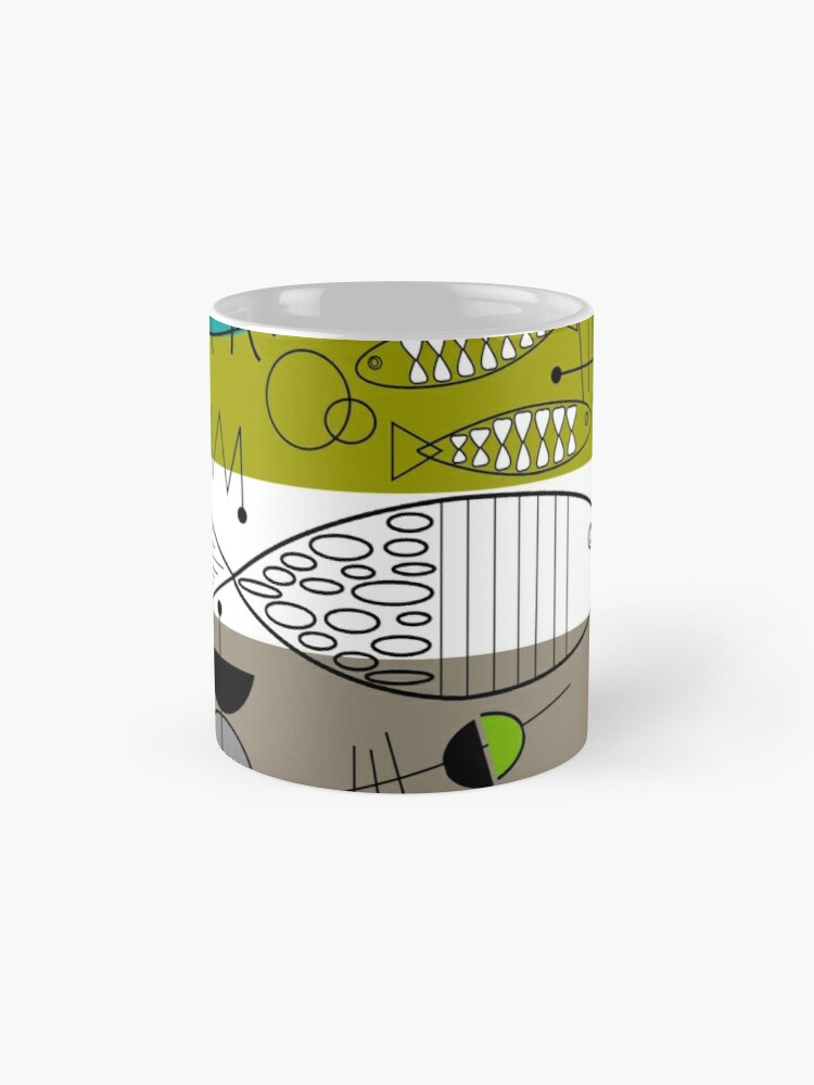 Alternate view of Mid-Century Modern Fish Art Mug