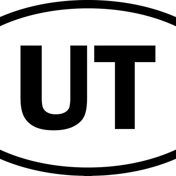 Utah - UT - oval sticker and more by welikestuff