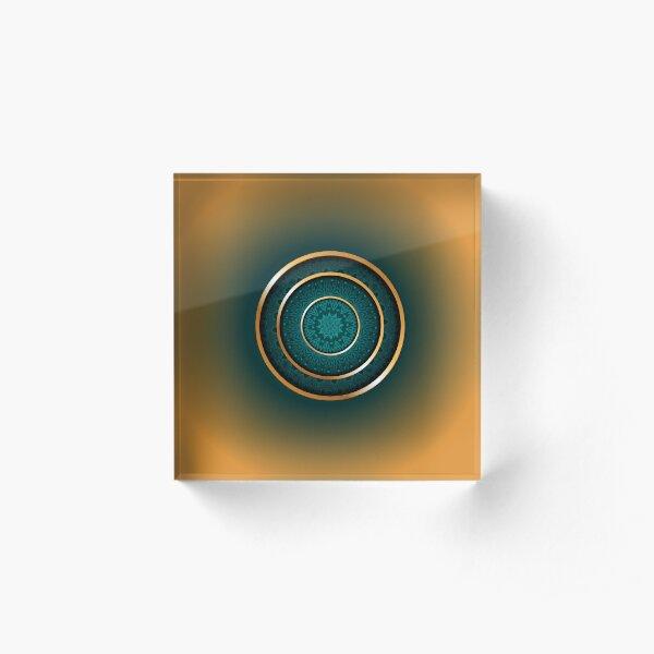Golden Ratio Rings Acrylic Block