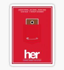 Her film poster Sticker