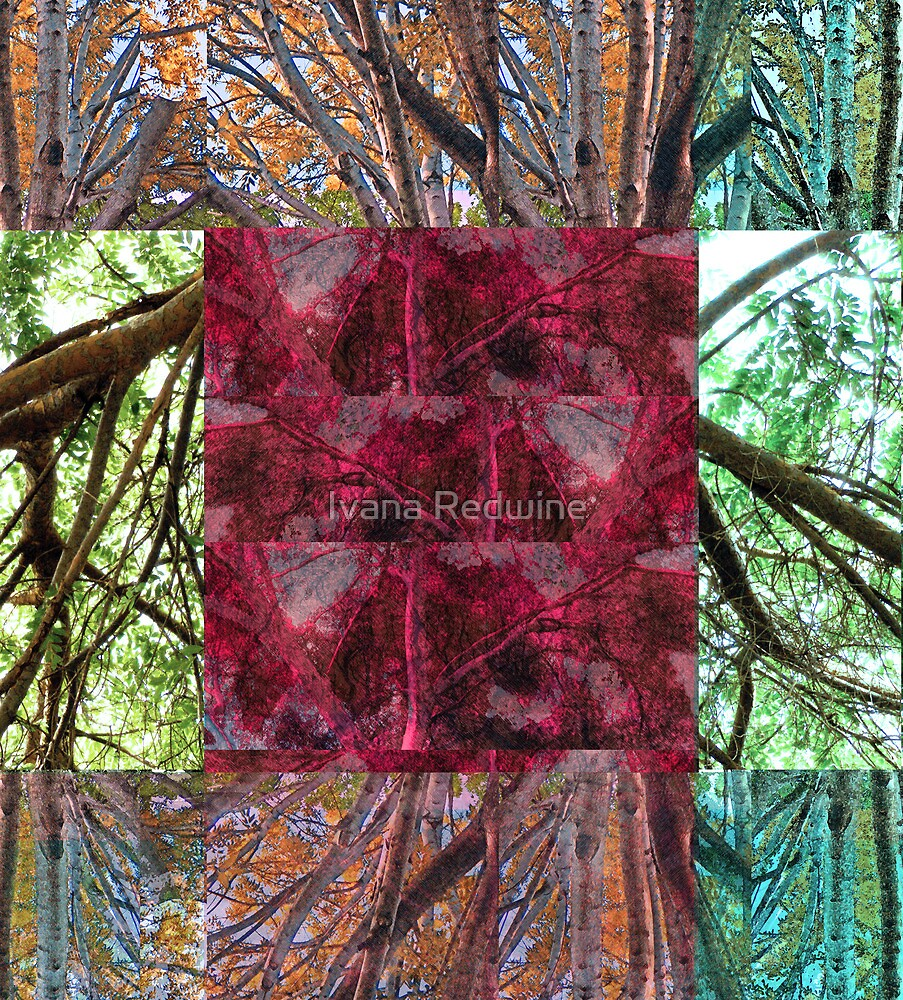 Abstracted Composition With Trees and Branches – Version Two by Ivana Redwine
