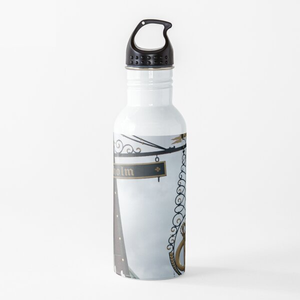 Birkholm Sign in Solvang California Water Bottle