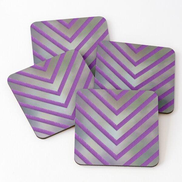 Purple Chevron Design Coasters (Set of 4)