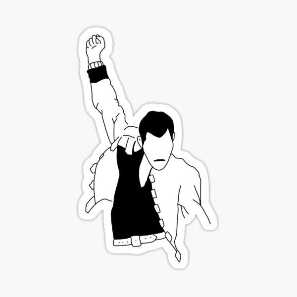 Freddie Mercury Outline Sticker