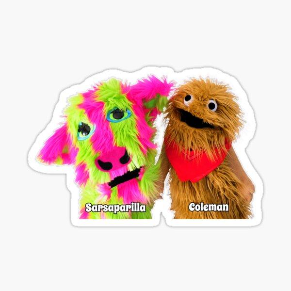 Wump Mucket Puppets Sarsaparilla & Coleman merchandise Sticker