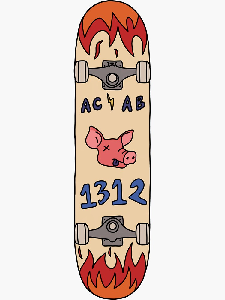 ACAB Skateboard by stickers-for