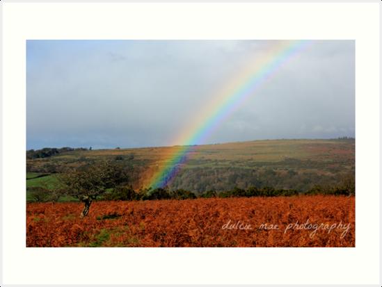 Rainbow over Dartmoor by dulciemaephotos