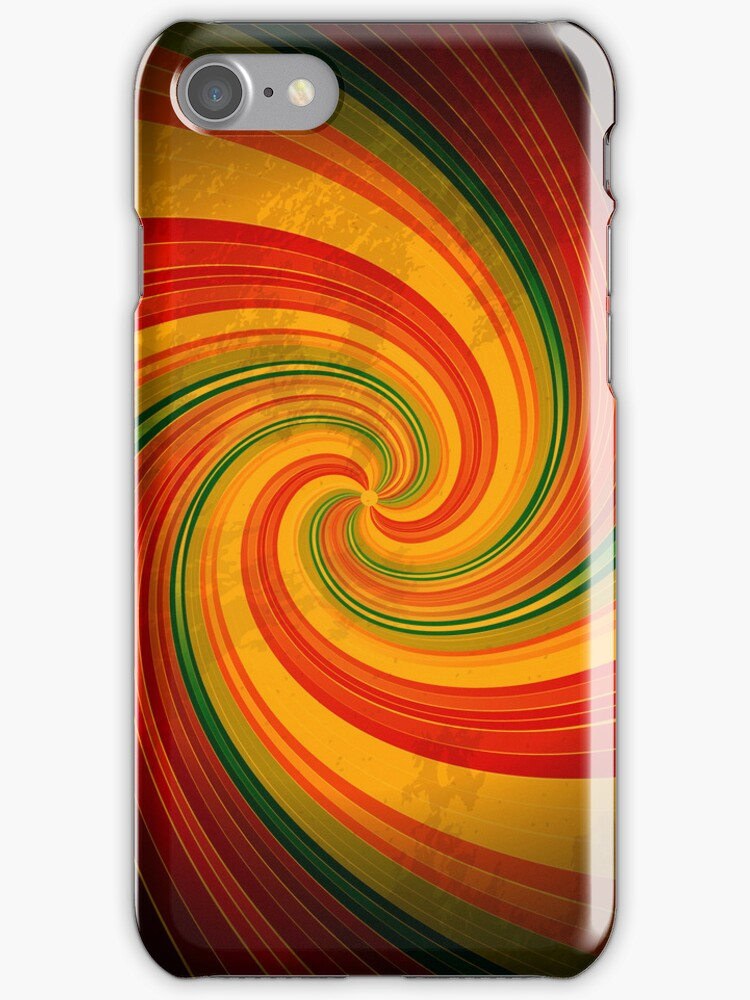 Retro Spiral Swirl Colorful Pattern iPhone 5 / iPhone 4 Case / Samsung Galaxy Cases  by CroDesign