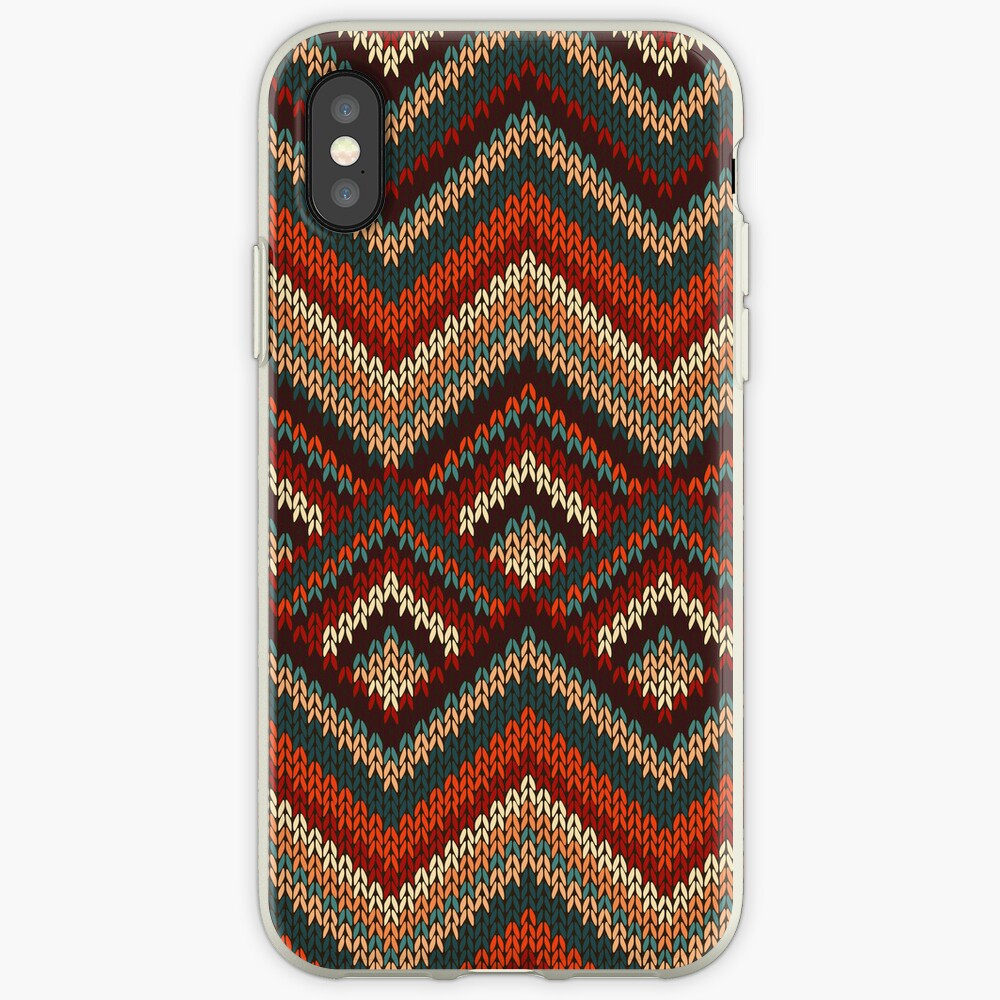 Modern Chevron Zig Zag Stripes Knitting Pattern iPad Case / iPhone 5 / iPhone 4 Case  / Samsung Galaxy Cases  iPhone-Hülle & Cover