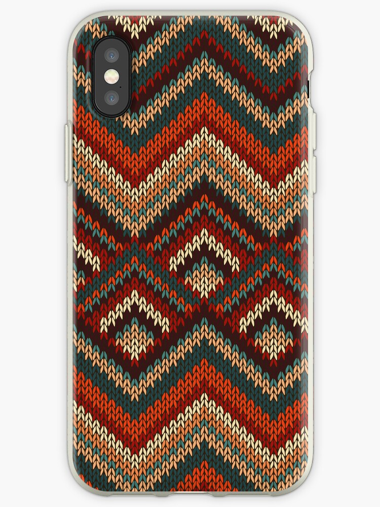 Modern Chevron Zig Zag Stripes Knitting Pattern iPad Case / iPhone 5 / iPhone 4 Case  / Samsung Galaxy Cases  by CroDesign