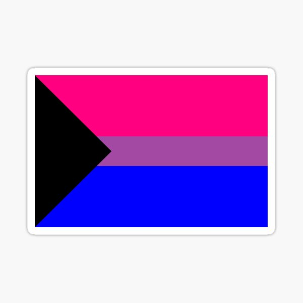 Demisexual Biromantic, Bisexual Demiromantic, Demi Bi FLAG Sticker