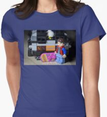 Marty Gets the Hoverboard out Women's Fitted T-Shirt