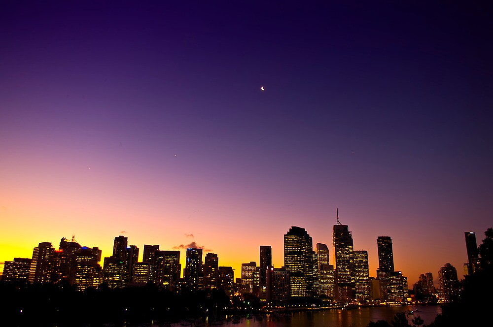 Brisbane after Sunset by tonyporter