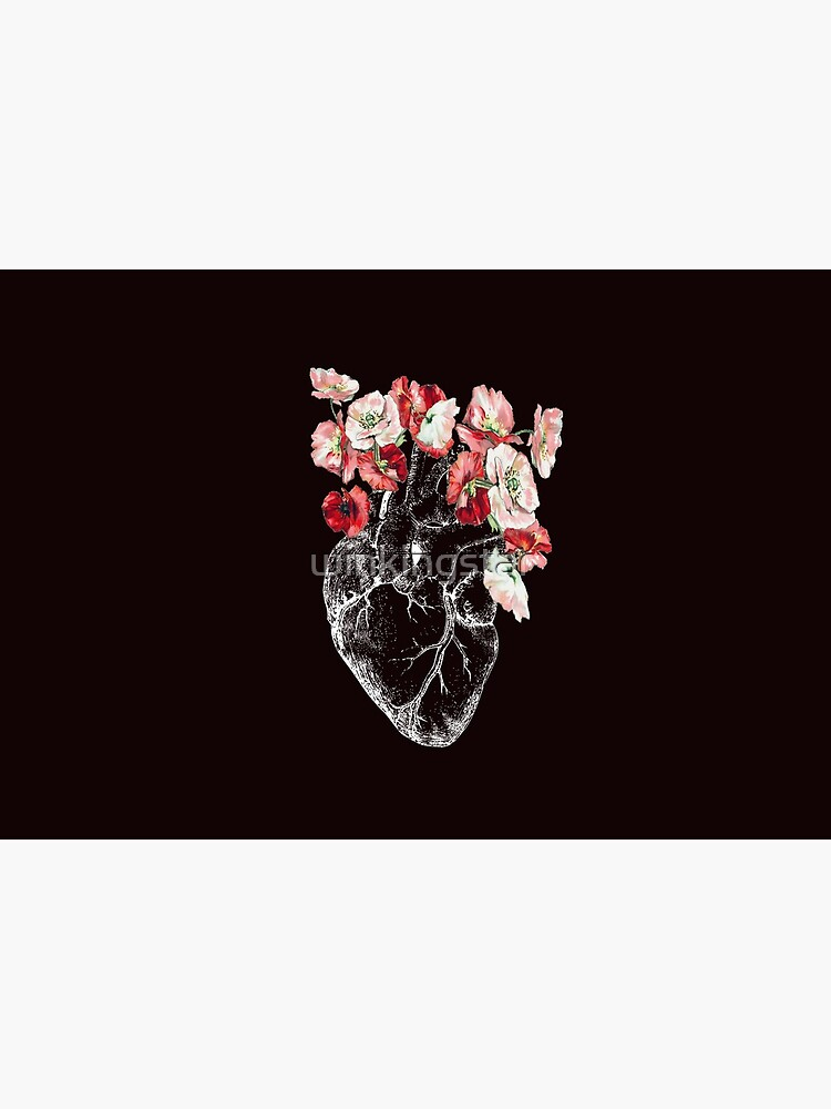 Anatomical Heart with Flowers  by winkingstar