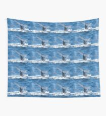 Whale breaching Wall Tapestry