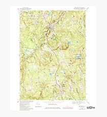 USGS TOPO Map New Hampshire NH New Boston 329705 1968 24000 Photographic Print