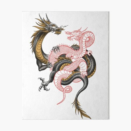 Chinese Dragon Tattoo Wall Art Redbubble