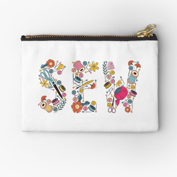 Sewing Notions graphic Zipper Pouch