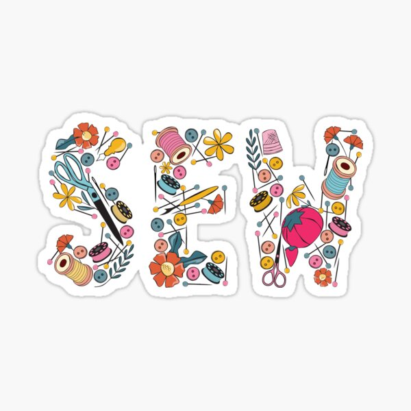 Sewing Notions graphic Sticker