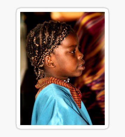 Young Somalian Girl Sticker