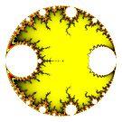 Mandelbrot Orb Yellow by Rupert Russell