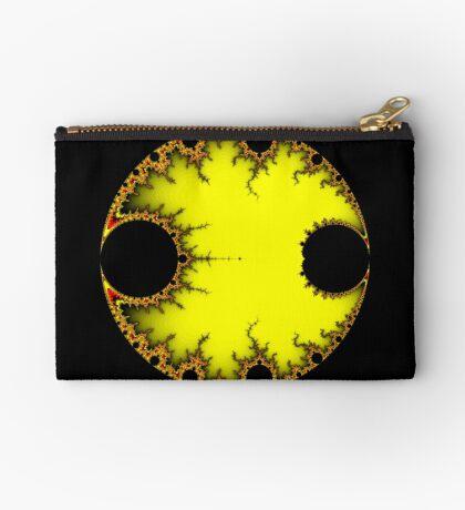Mandelbrot Orb Yellow Zipper Pouch