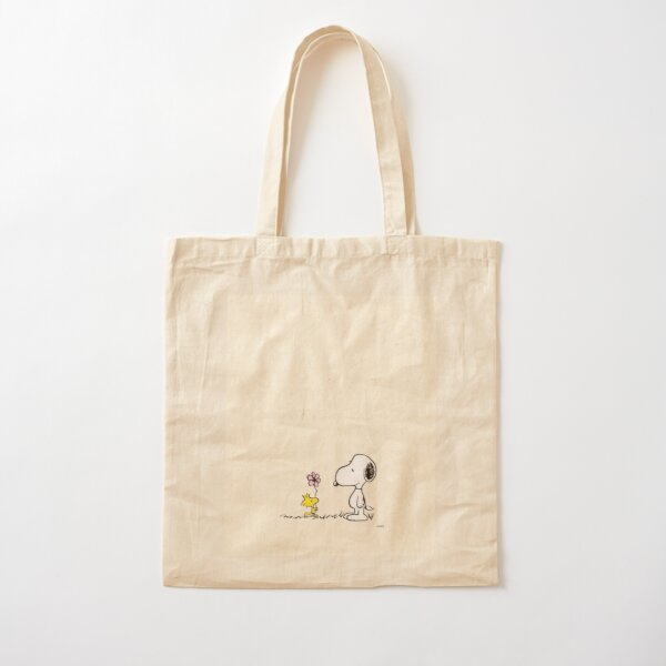 snoopy and woodstock  Cotton Tote Bag
