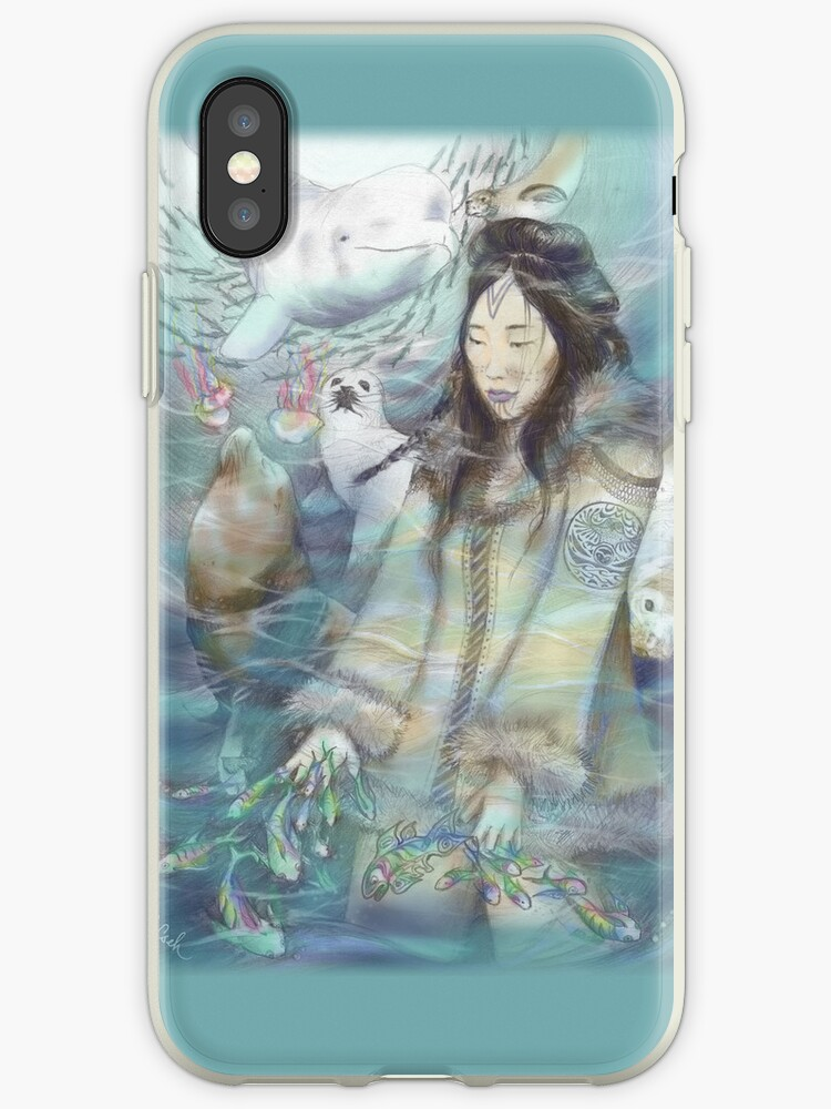 Sedna, Inuit Goddess of the Sea (Color) - iPhone/iPod Case by Genevieve  Cseh