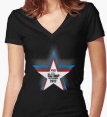 Megadeth Vic For President 2012 Women's Fitted V-Neck T-Shirt