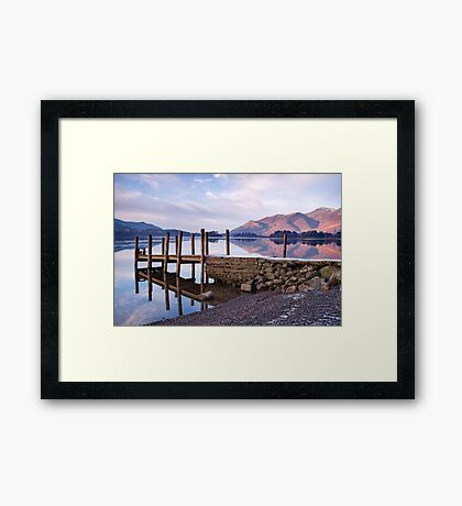 Ashness Jetty - Derwentwater - The Lake District Framed Print